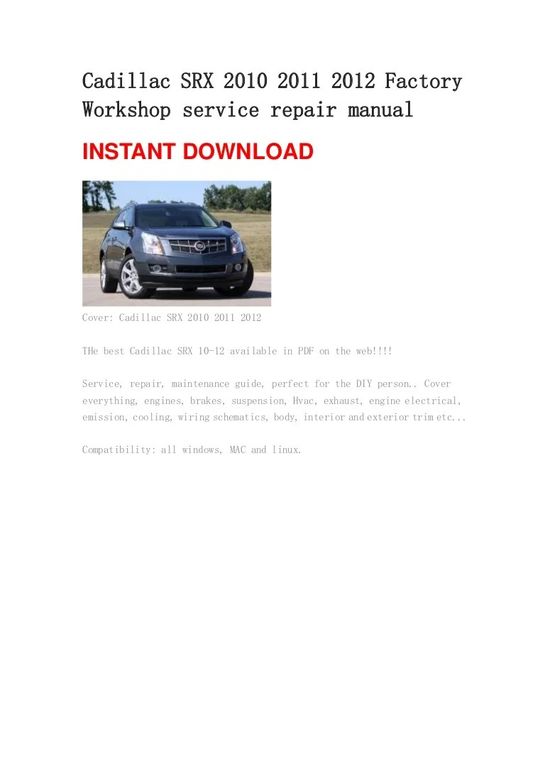 Cadillac Srx Tail Light Wiring Diagram