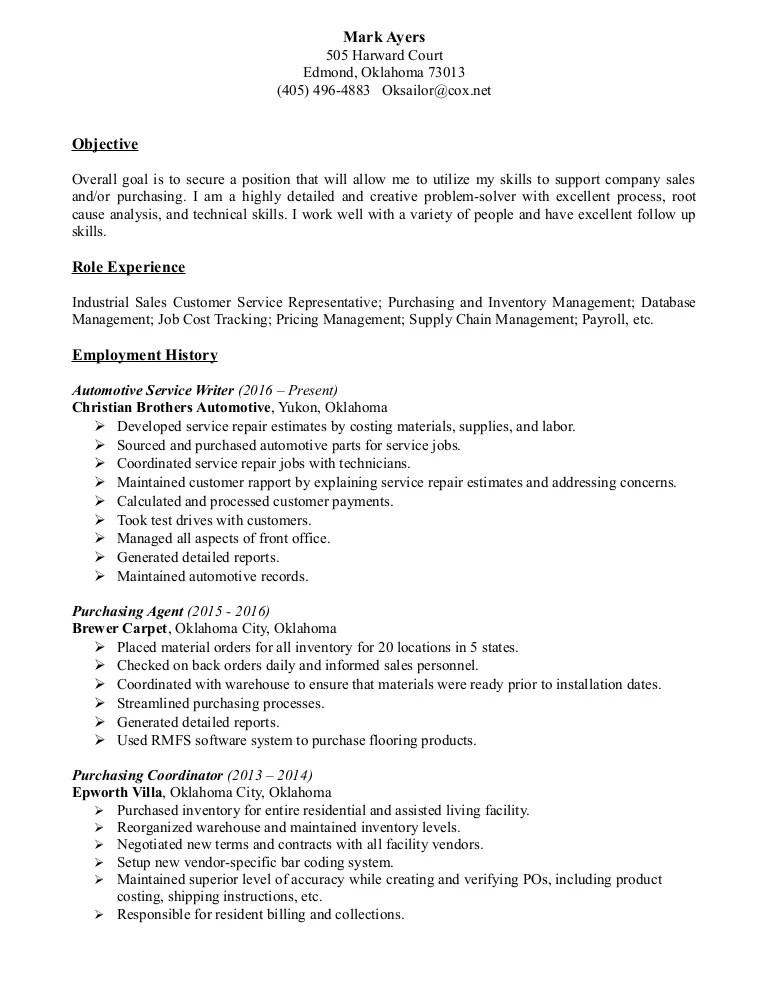 service writer resumes - Towerssconstruction
