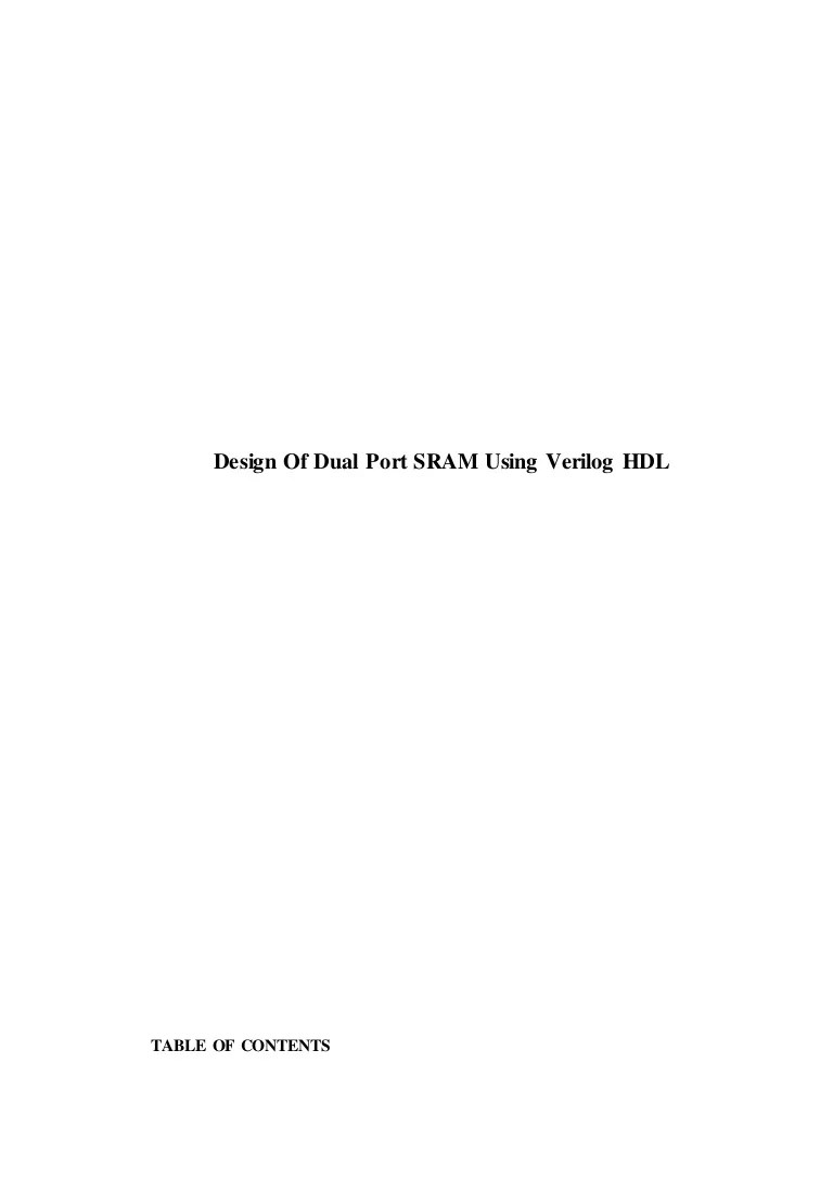 System Verilog Adapter 301378156 Design Of Sram In Verilog