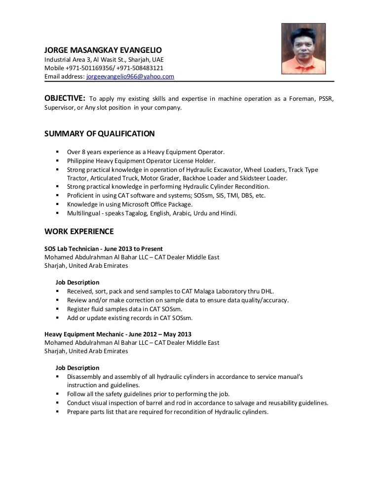 heavy machine operator job description - Josemulinohouse
