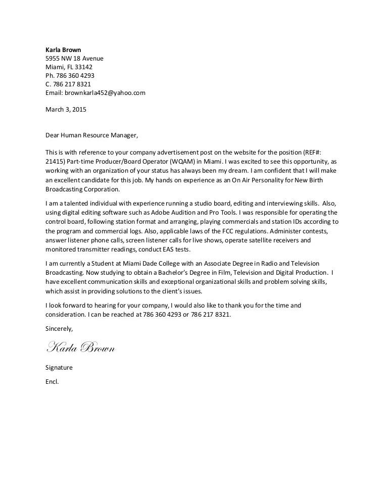 tv production cover letter - Onwebioinnovate - tv production resume