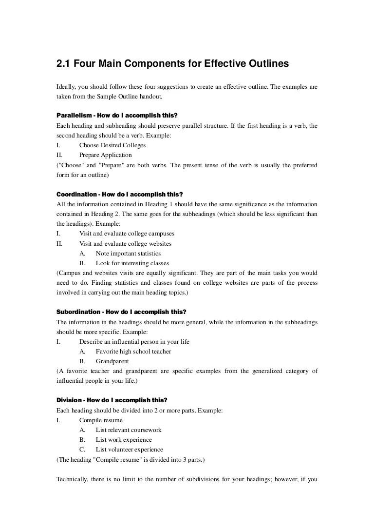 general essay outline