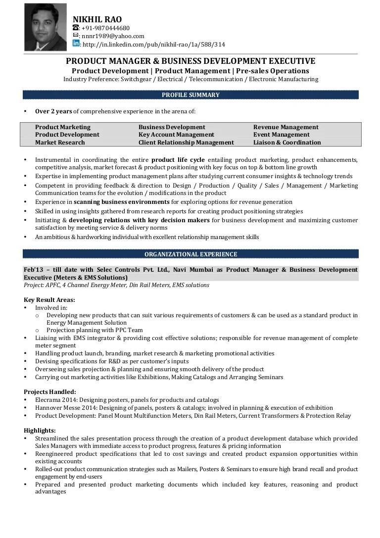 sample resume design manager