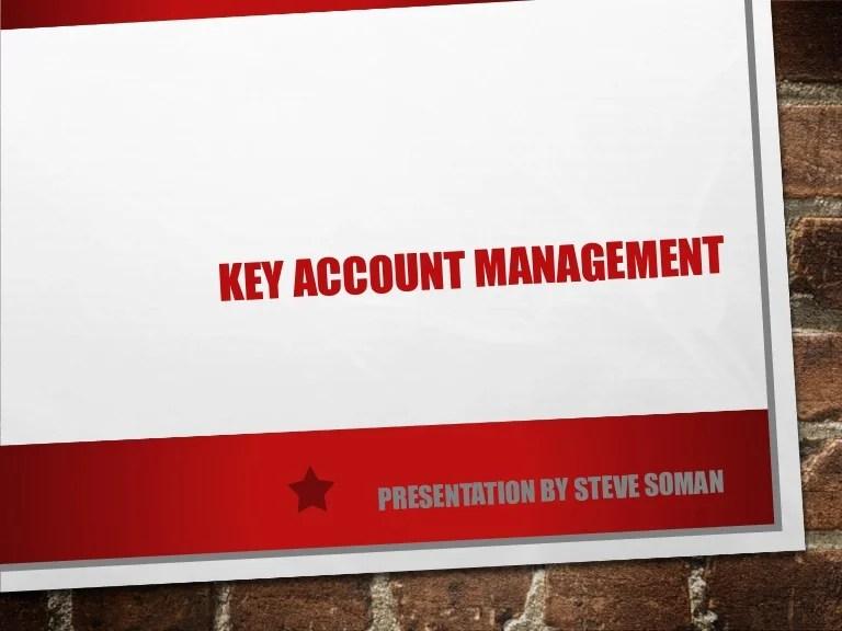 powerpoint key account management