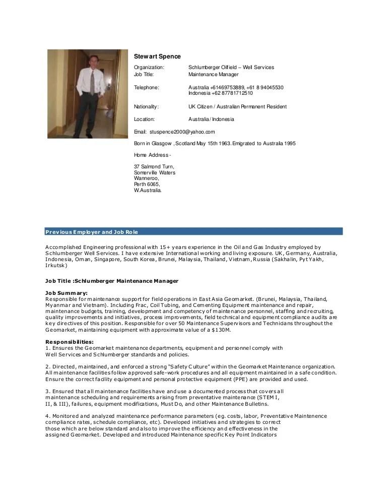 maintenance manager resumes - Josemulinohouse