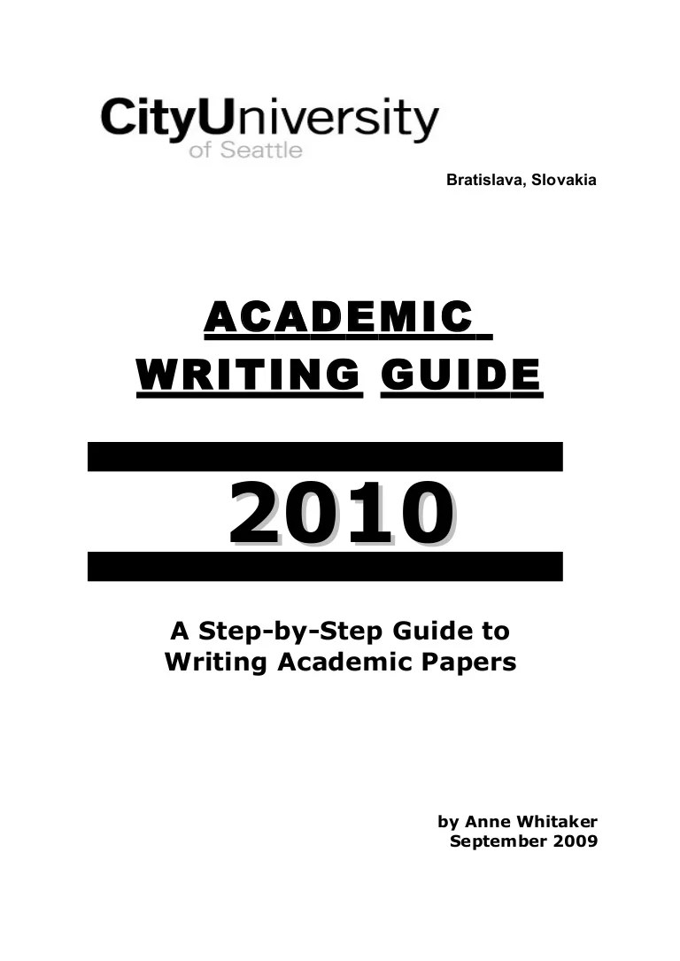 Writing Guide Academic Writing Guide