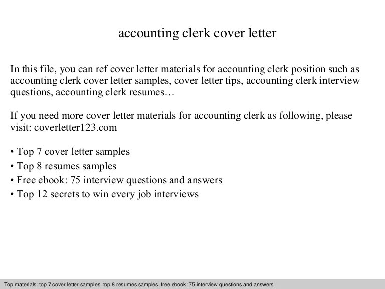 sample cover letter for accounting clerk - Thevillas - cover letter for accountant job sample