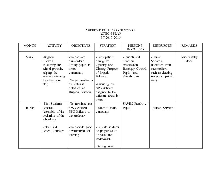 School Action Plan Template - Design Templates - example of action plan template