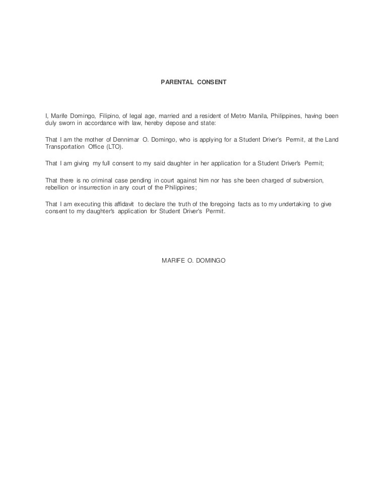 parental permission letter - Towerssconstruction