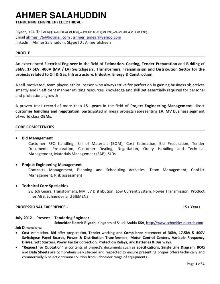 electrical estimator resume - Romeolandinez - construction estimator resume sample