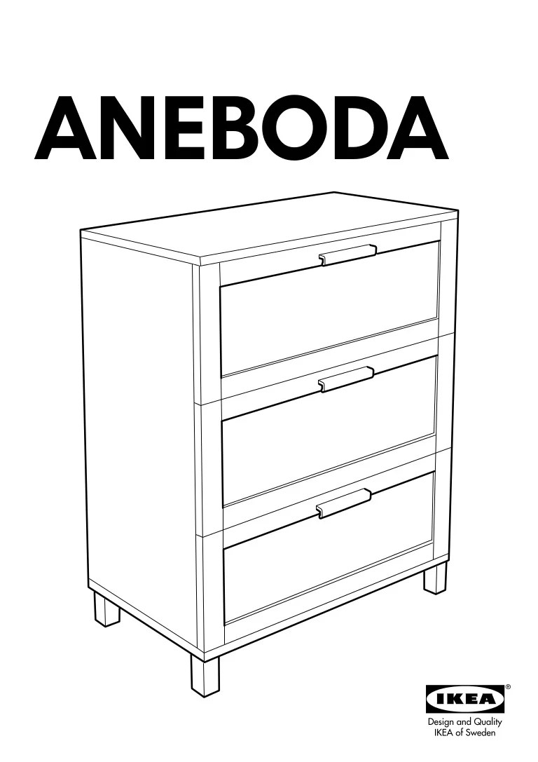 Aneboda Chest Of Drawers Aneboda Chest Of Drawers With 3 Drawers 80x100x40 Cm Dr14 Pub