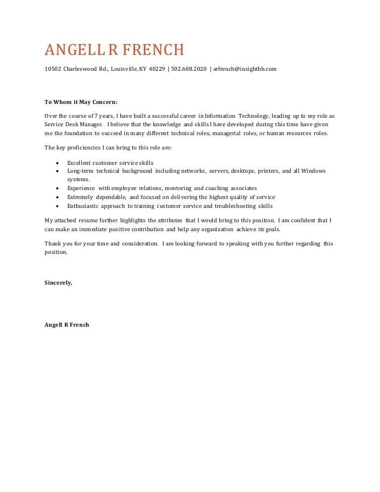 general customer service cover letter - Minimfagency