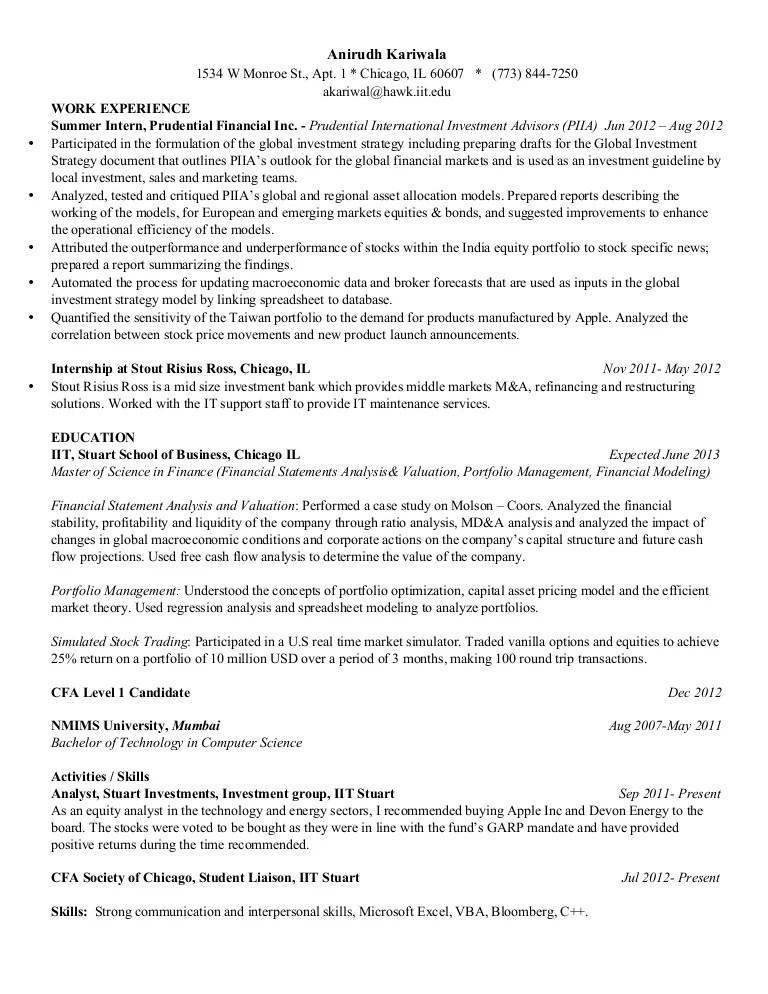 Cfa Level 1 Candidate Resume - Laserdiscservice