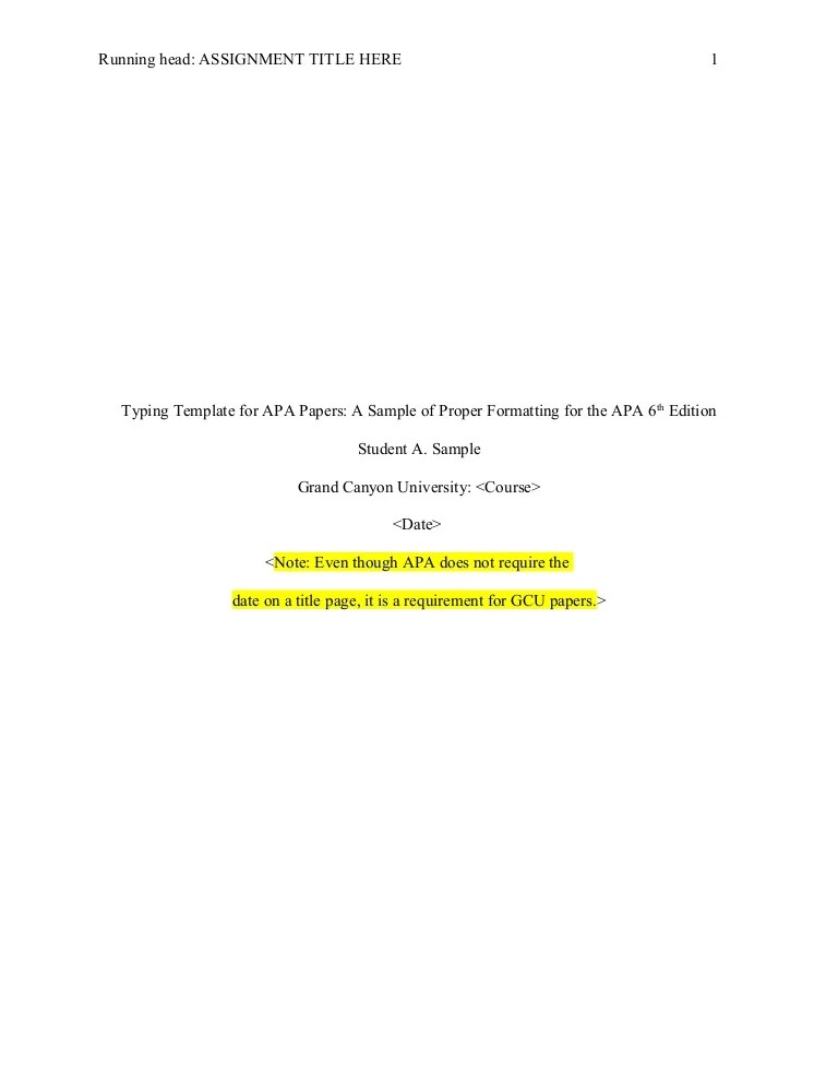 apa 6th edition sample paper template