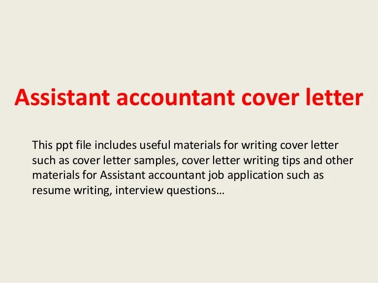 cover letter assistant accountant - Alannoscrapleftbehind - accountant cover letter sample