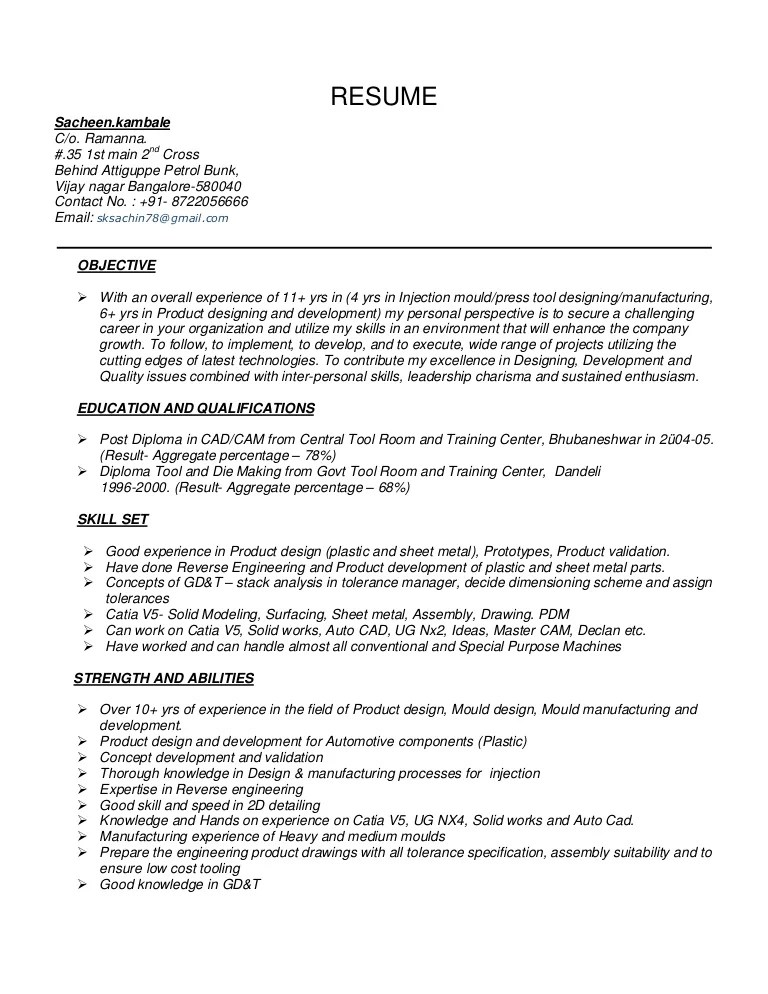 automobile engineer resume sample