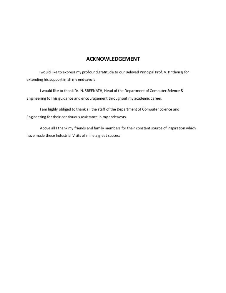 sample resume inplant training report format