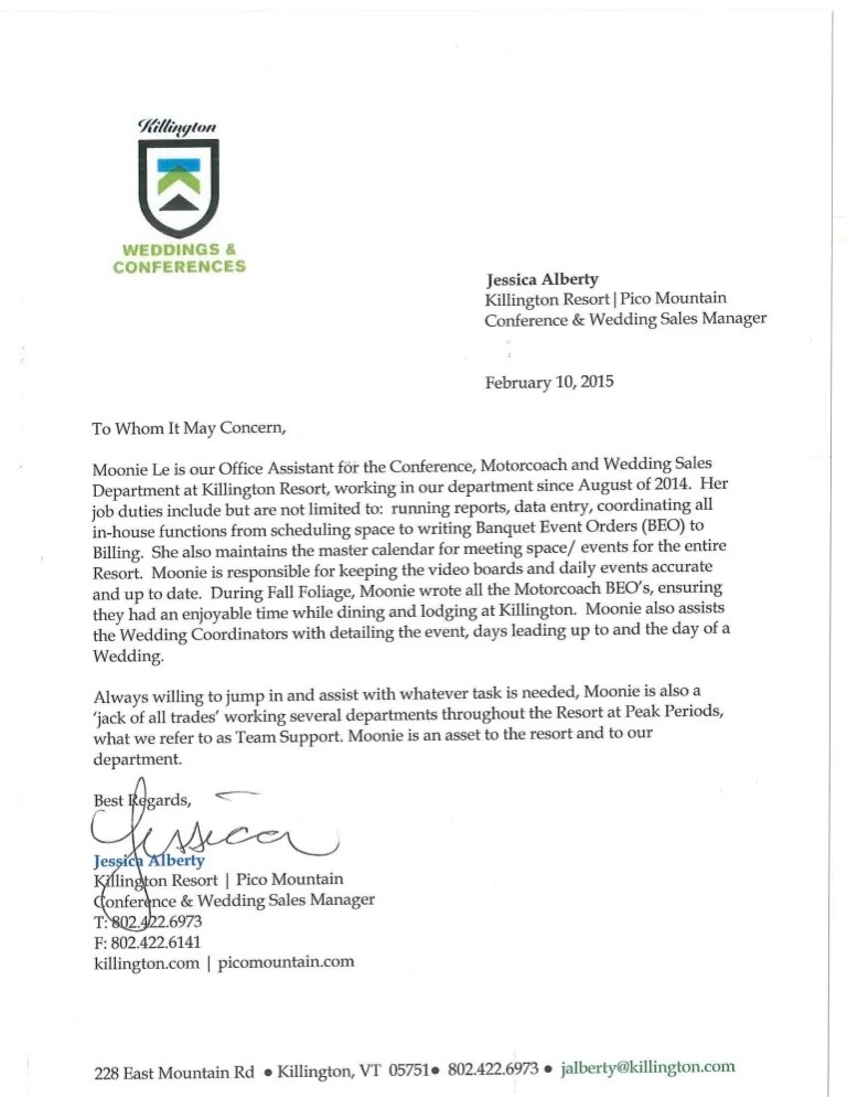 recommendation letter for conference