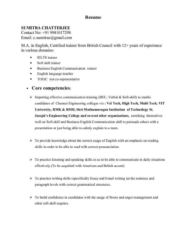 Soft Skills Trainer Sample Resume Professional Soft Skills Trainer - resume soft skills