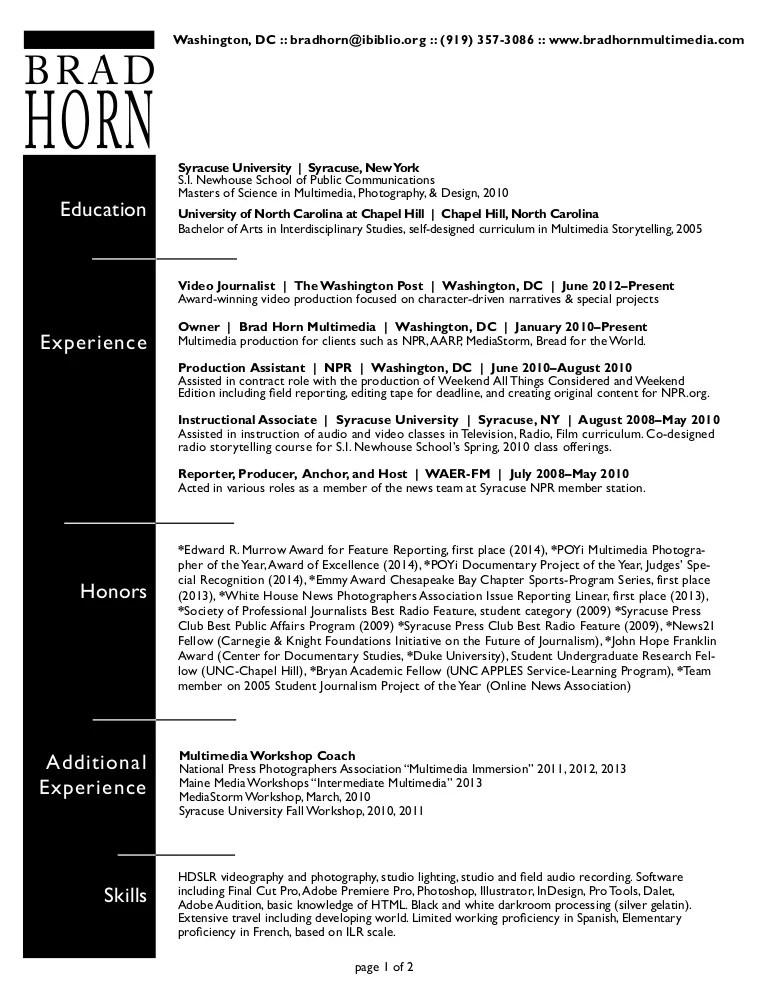 storytelling resume examples - Alannoscrapleftbehind - field producer sample resume
