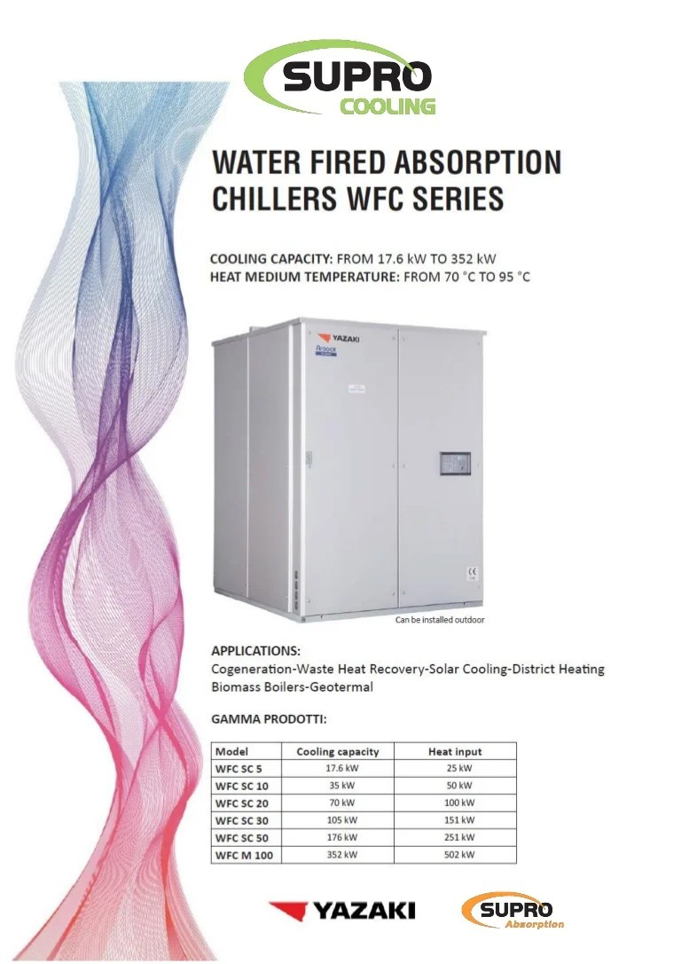 Gamma Close In Boiler Supro Cooling Brochure Yazaki Absorption Chillers 2017