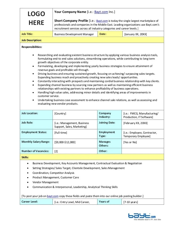 application development manager job description - Holaklonec