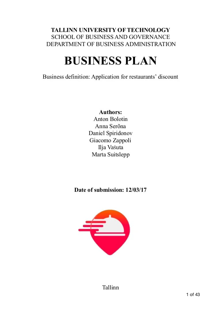 Business Plan Foodhub Project