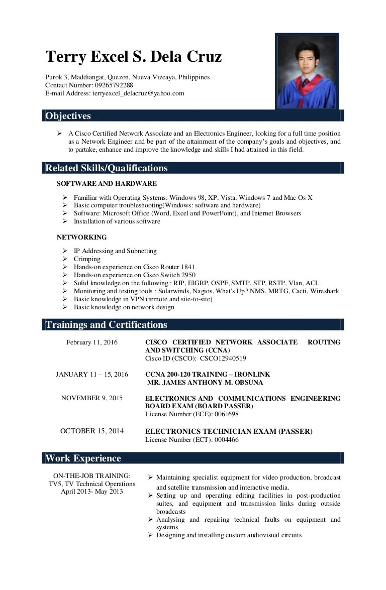 resume name email
