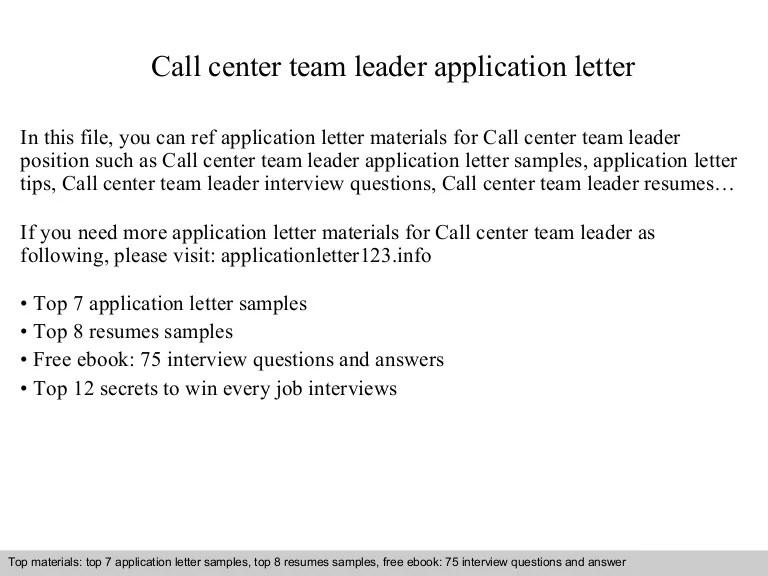 motivational letter for team leader position - Onwebioinnovate