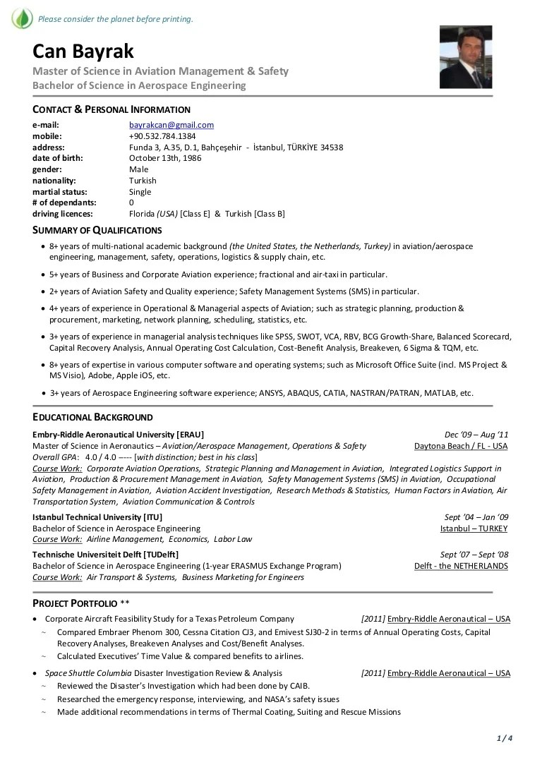 example de resume