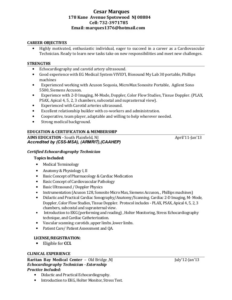 ultrasound resumes - Josemulinohouse - ultrasound tech resume