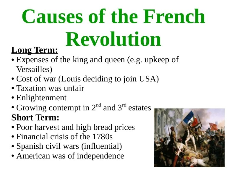 causes of french revolution
