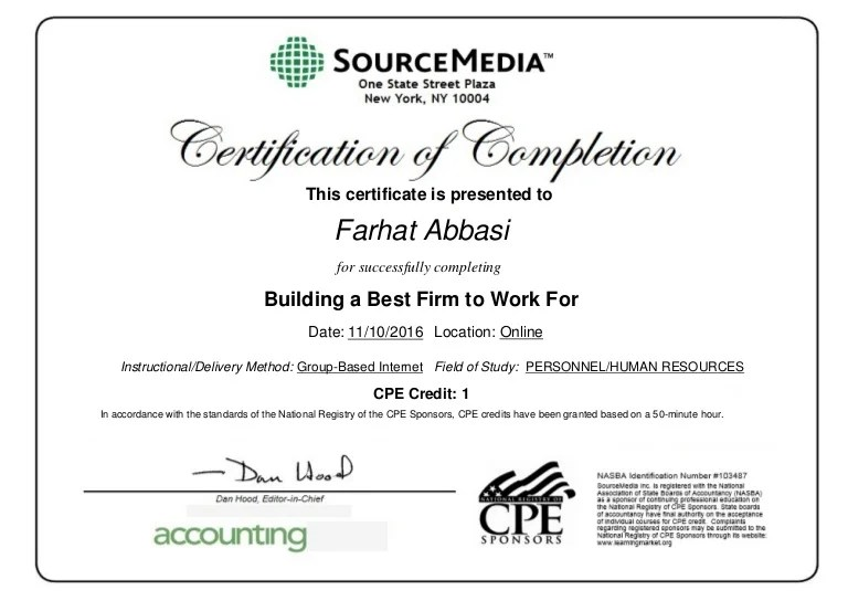 i have a certificate of completion - Acurlunamedia - cpe certificate template