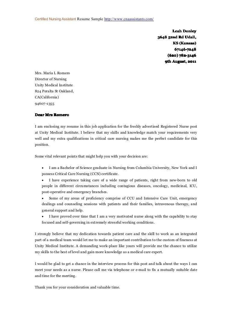 cover letter for care assistant