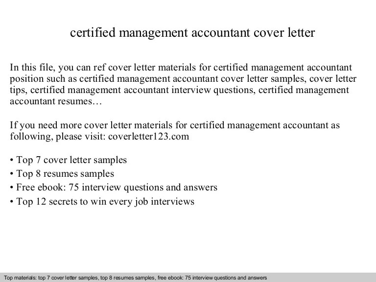 accounting resume cover letters - Akbakatadhin - certified management accountant resume