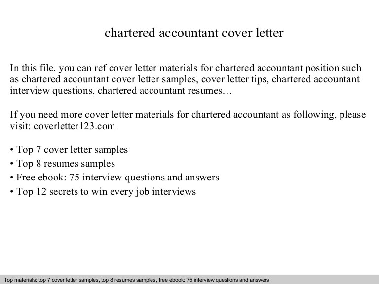 sample chartered accountant cover letter - Onwebioinnovate