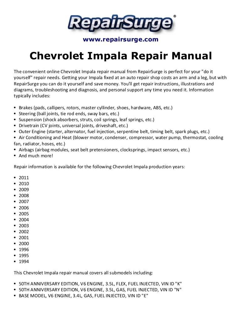 2000 Chevy Impala 3 4 Engine Diagram - wiring diagrams image free