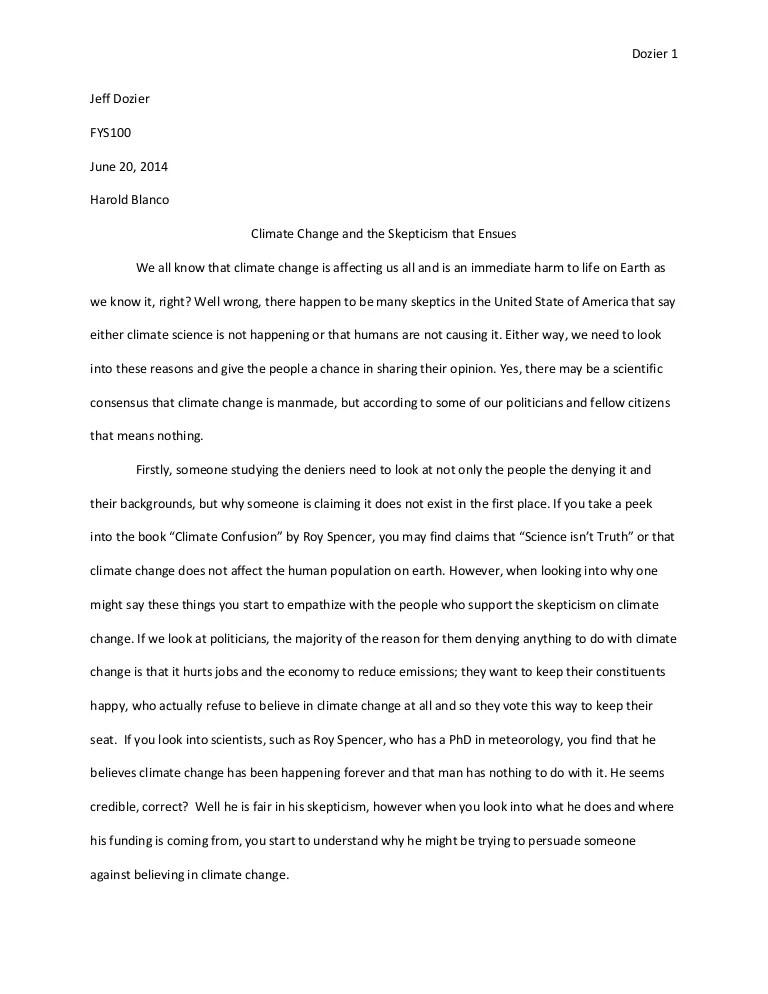 essays on global warming - Romeolandinez