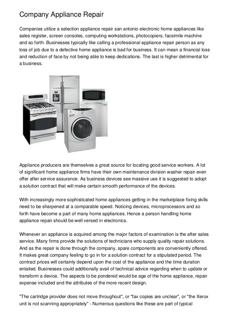 Home Repair Companies Company Appliance Repair