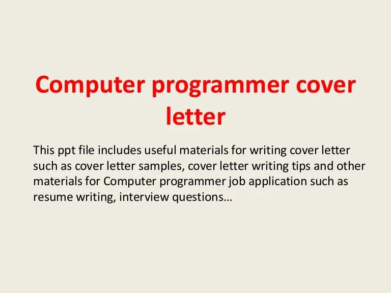 computer programmer cover letters - Intoanysearch - sas programmer cover letter