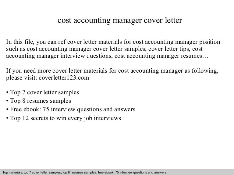 accounting cover letter samples free - Onwebioinnovate