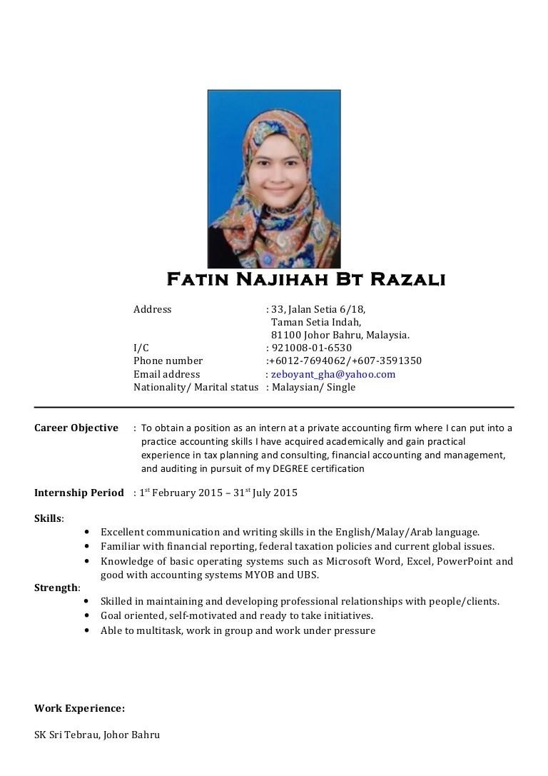contoh email resume bahasa melayu