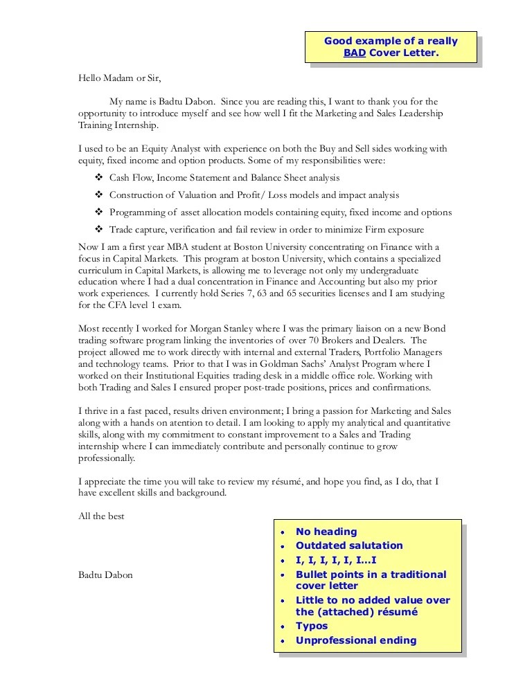 bad cover letters examples - Olalapropx
