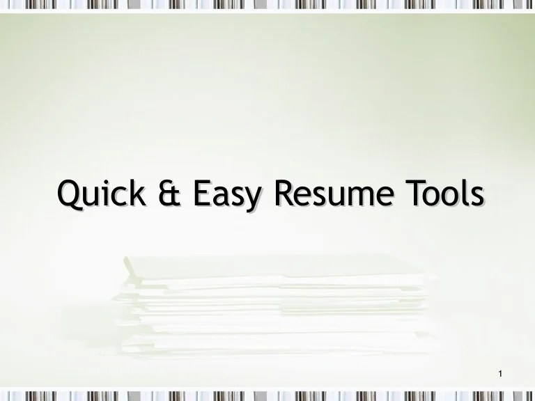 how to write a quick easy resume - Funfpandroid - quick and easy resume