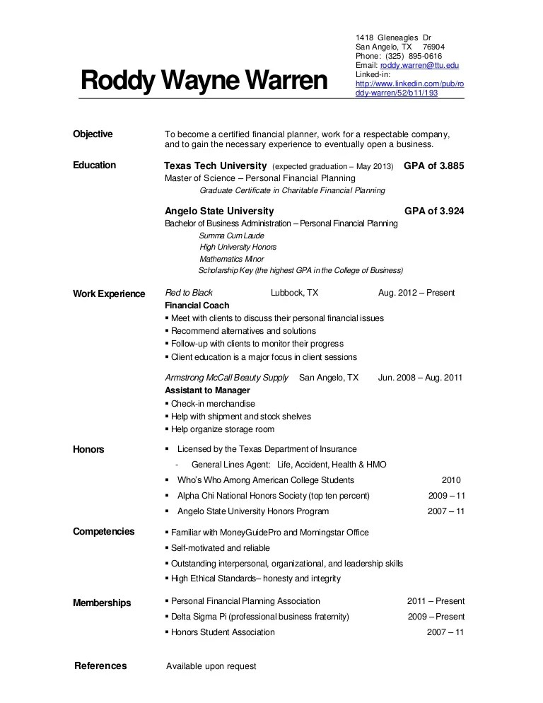 current it resume examples