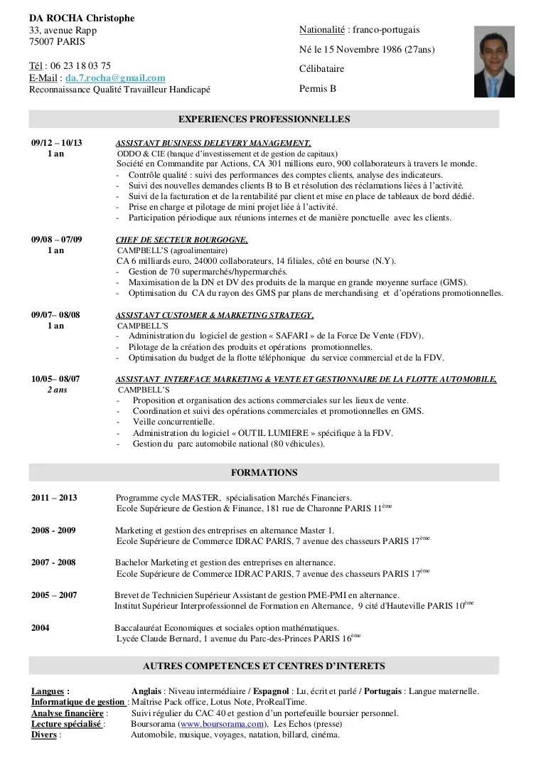 exemple de cv interet personnel