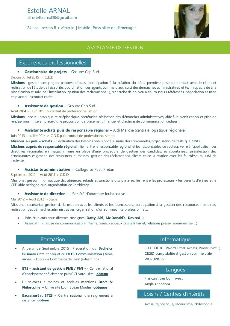 cv cesf exemple