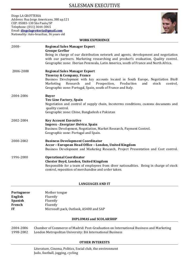 cv manager in english