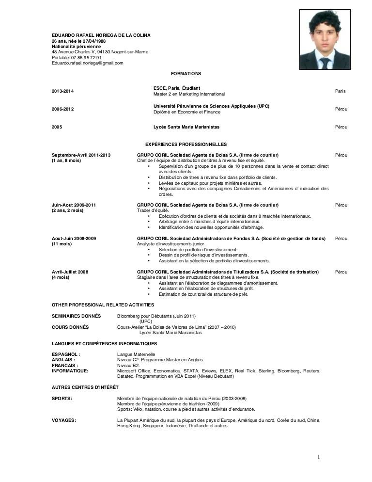 cv cours francais