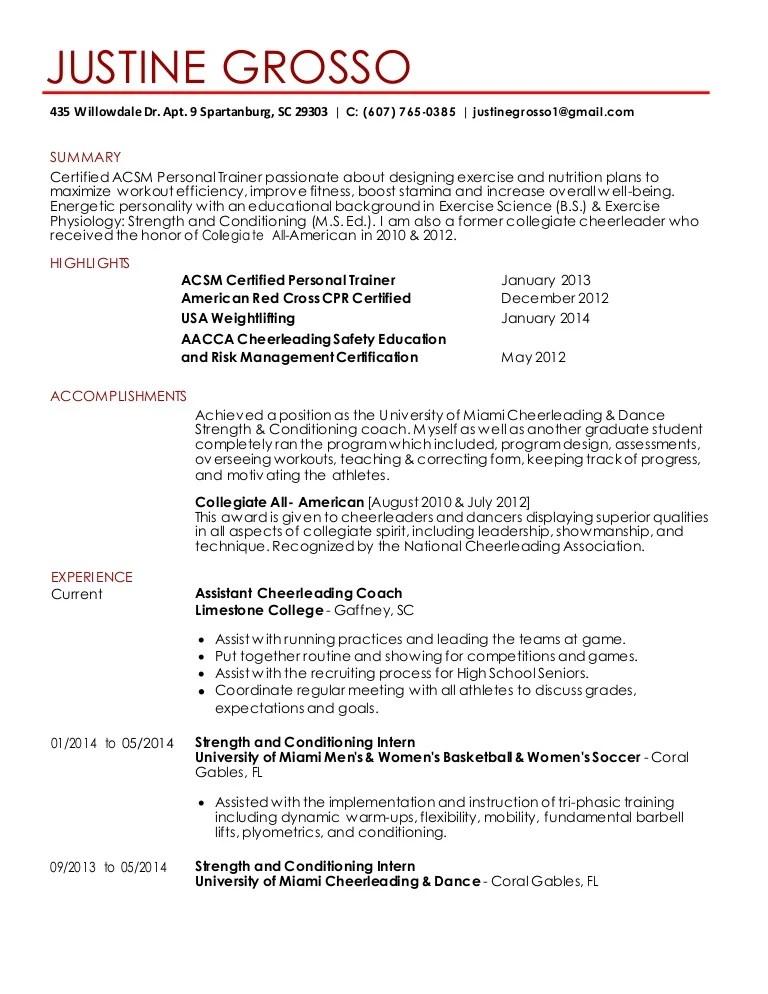 strength and conditioning resume examples - Maggilocustdesign